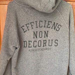 Nike Greek letters Latin heather gray zip hoodie